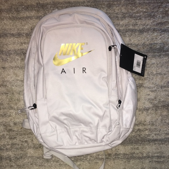 NWT Light gray  off white nike backpack w gold 97a2fa9cb266d